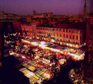 Christmas s market in Rome